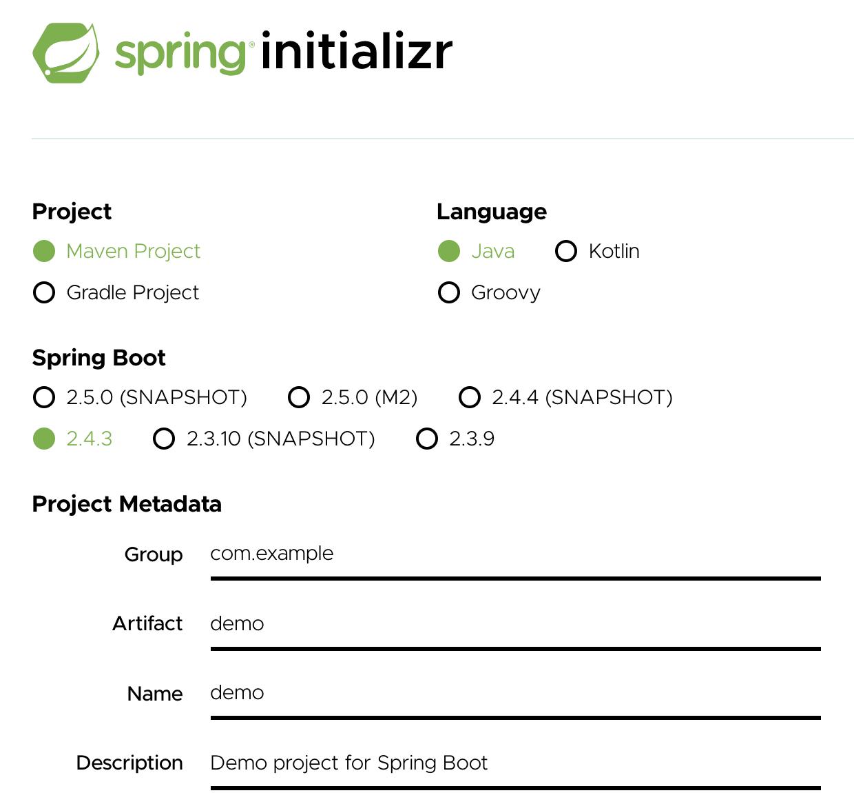 spring initializr